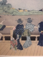 Pawilon Sazai (detal), Hokusai